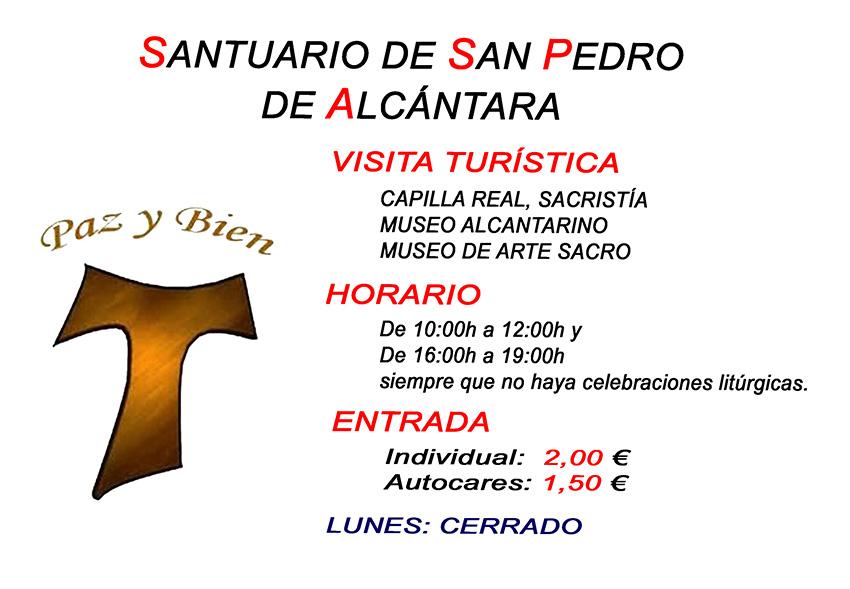 Horario Santuario San Pedro de Alcántara  - Arenas de San Pedro - TiétarTeVe
