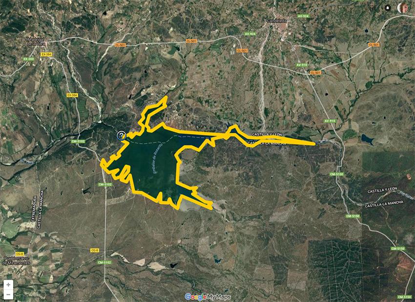 Mapa del Embalse de Rosarito - Google MyMaps