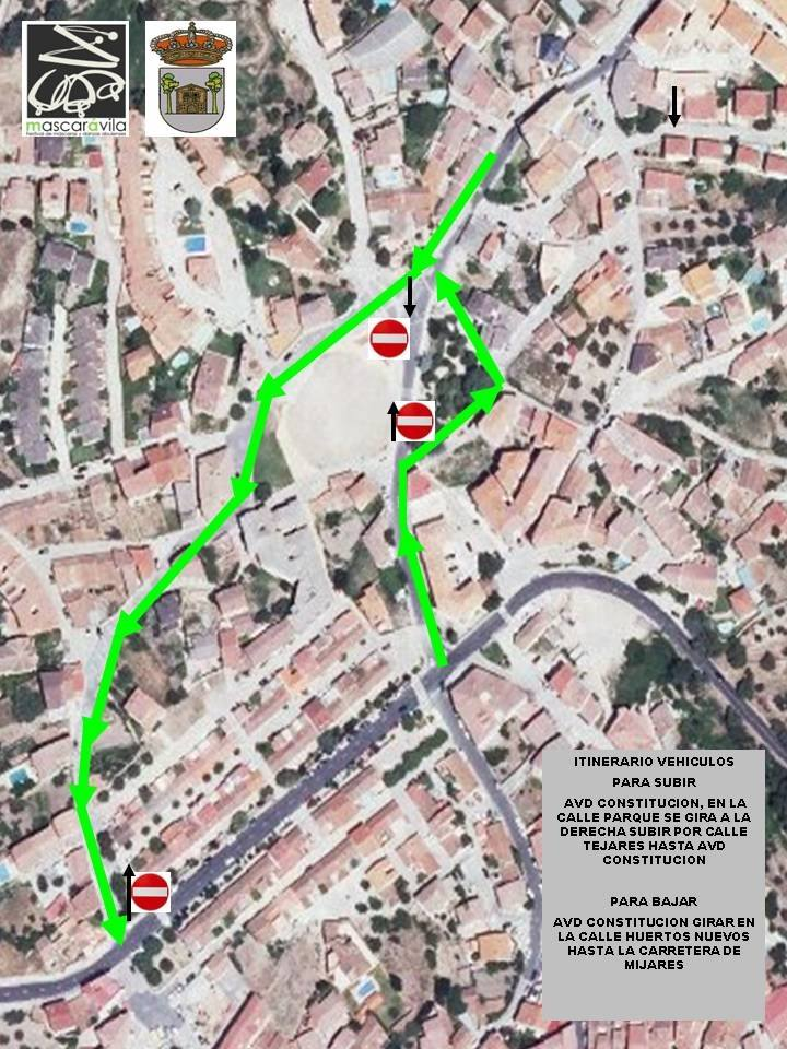Restricciones de Tráfico del III Mascaravila en Casavieja