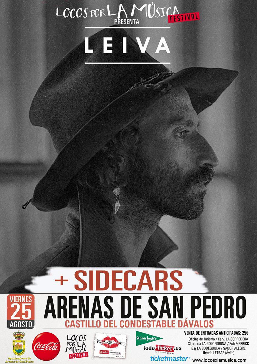 Leiva (+ Sidecars) en Locos por la Música 2017 de Arenas de San Pedro – TiétarTeVe