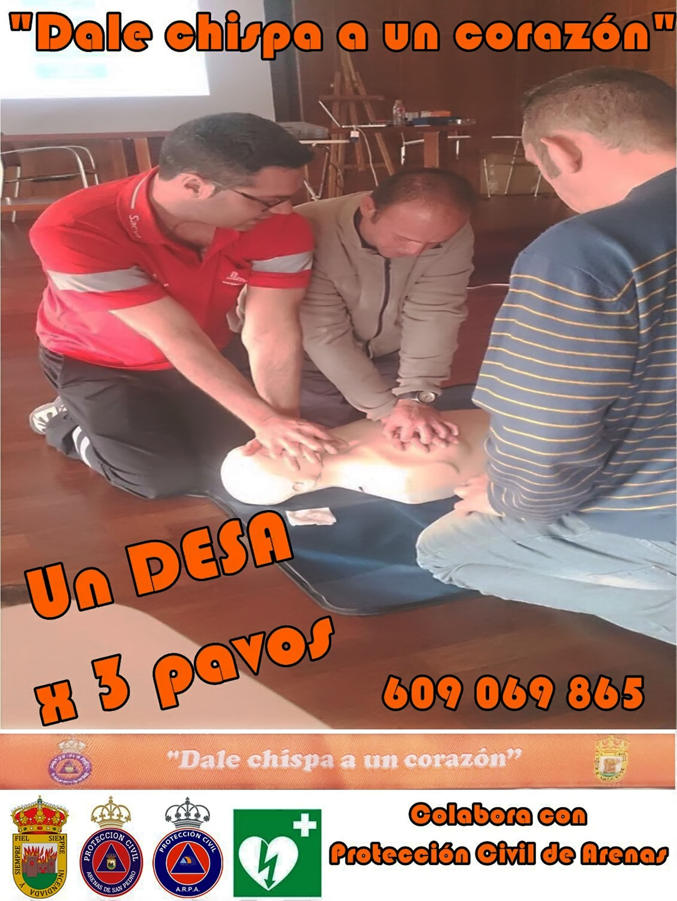 Desfibrilador Externo Semiautomático (DESA) para Protección Civil de Arenas de San Pedro – TiétarTeVe