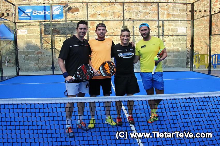 Finalistas del Trofeo Diputación de Ávila - Categoria Masculina - I Pádel Castle en Arenas de San Pedro - TiétarTeVe