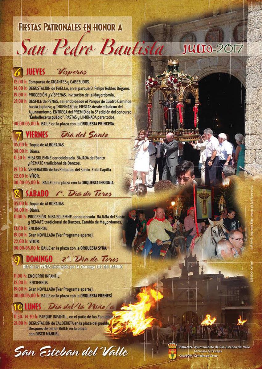 Fiestas de San Pedro Bautista en San Esteban del Valle 2017 - TiétarTeVe