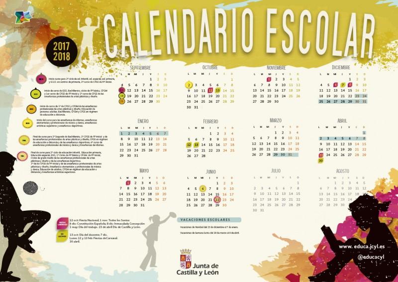 Calendario Escolar CyL 2017-2018