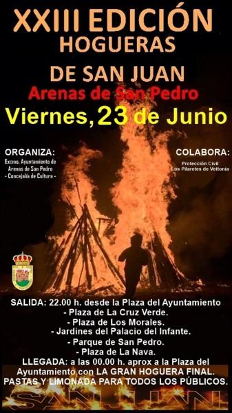 Hogueras de San Juan en Arenas de San Pedro - TiétarTeVe