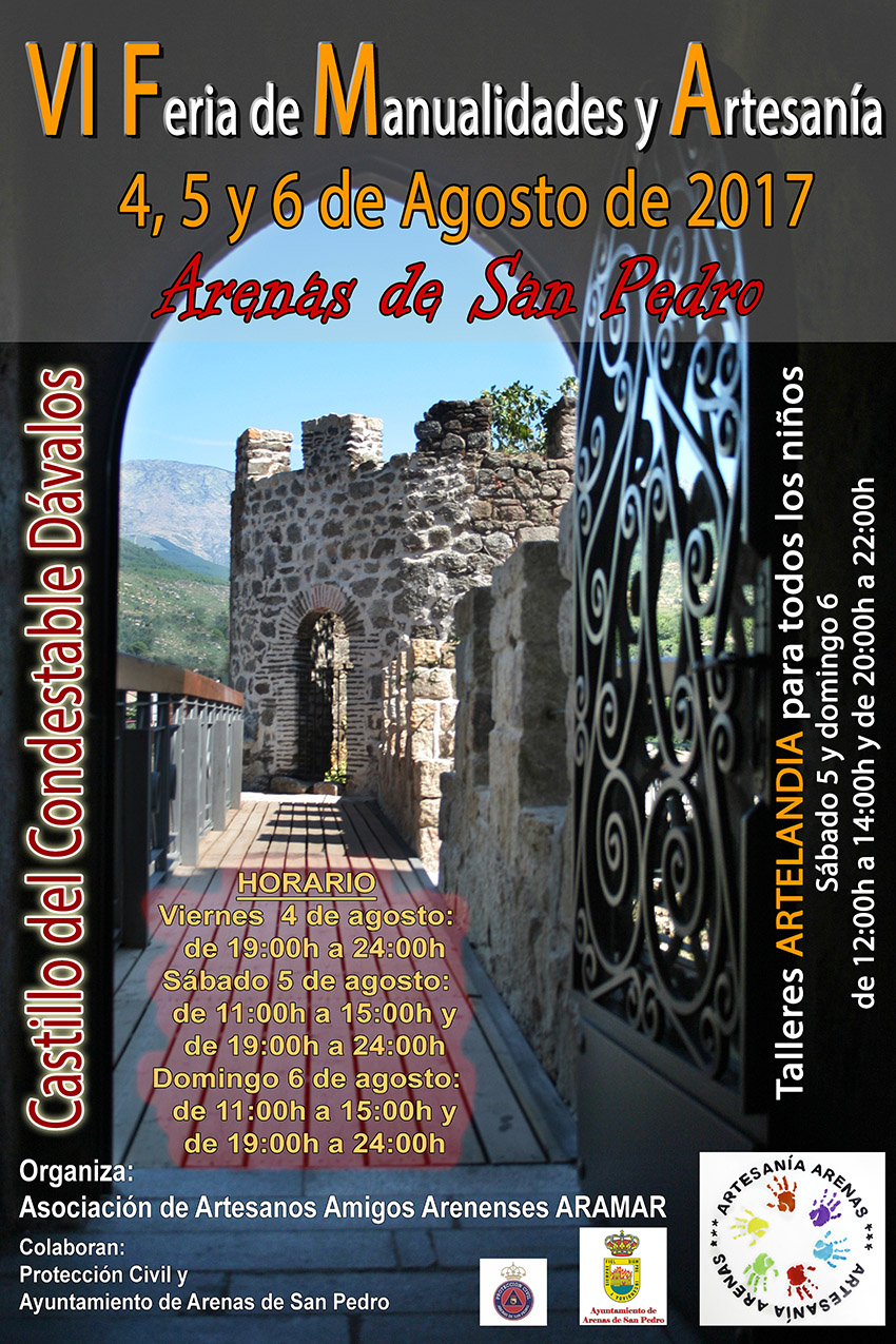VI Feria Manualidades y Artesania en Arenas de San Pedro - TiétarTeVe