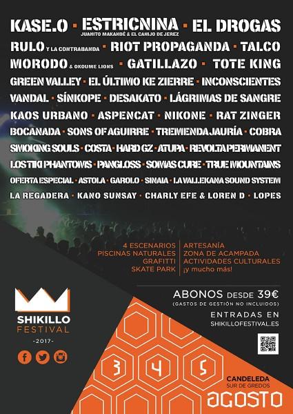 Cartel Shikillo Festival 2017 en Candeleda - TiétarTeVe