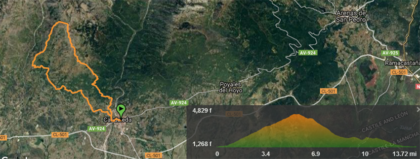 El Guerrero de Gredos - Track Advance 22 km - TiétarTeVe