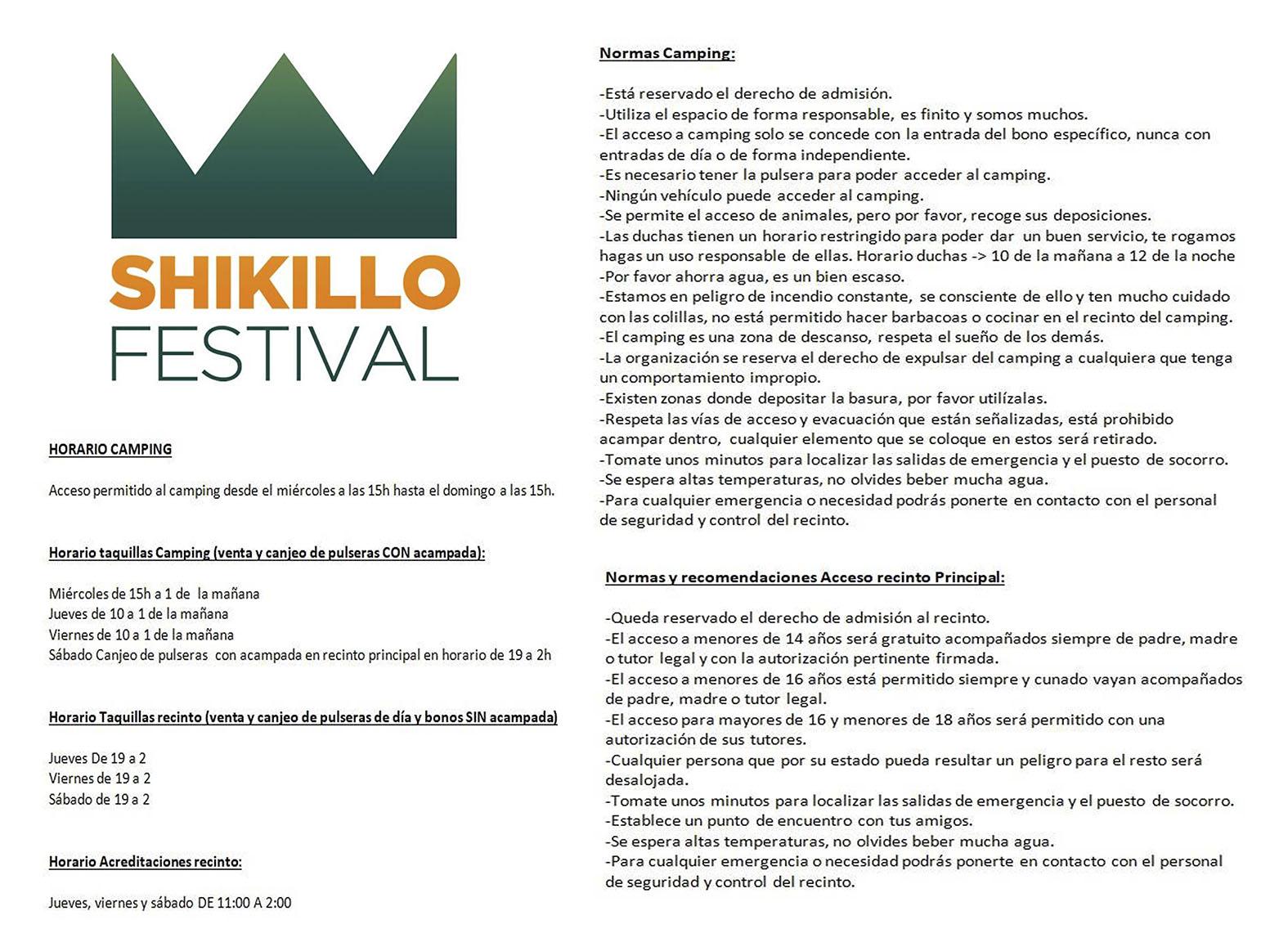 Normas Shikillo Festival 2017 - Candeleda - TiétarTeVe