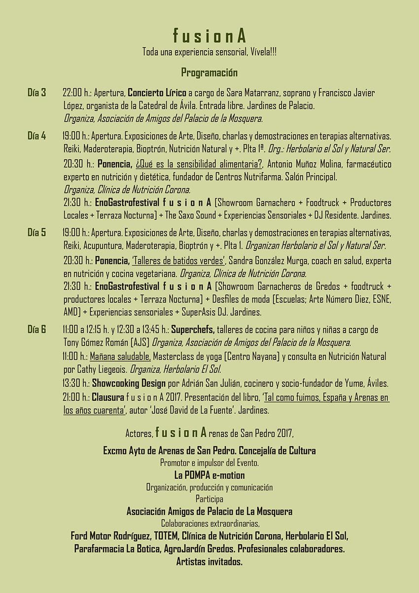 Programa FusiónA en Arenas de San Pedro - TiétarTeVe
