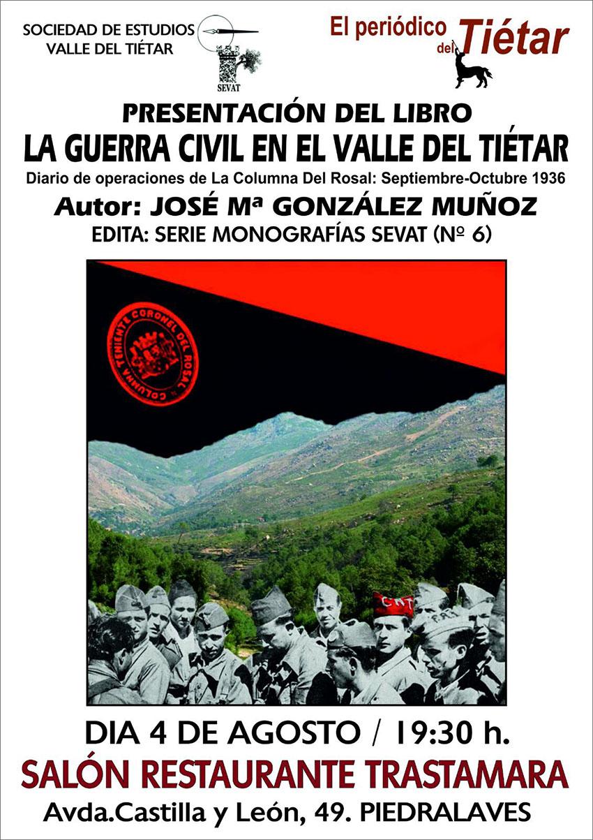 """Presentación Libro """"Guerra Civil Valle del Tiétar"""" - TiétarTeVe"""