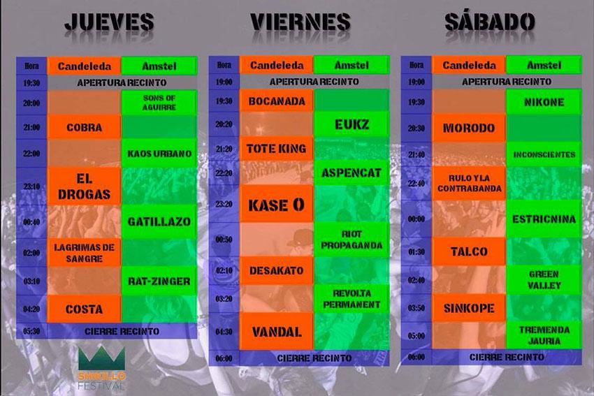 Shikillo Festival 2017 - Horarios - TiétarTeVe