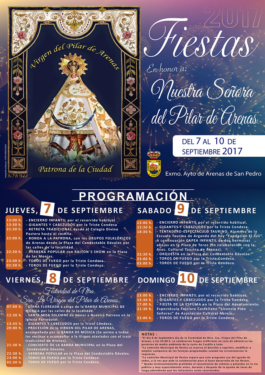 Fiestas del Pilar 2017 en Arenas de San Pedro - TiétarTeVe