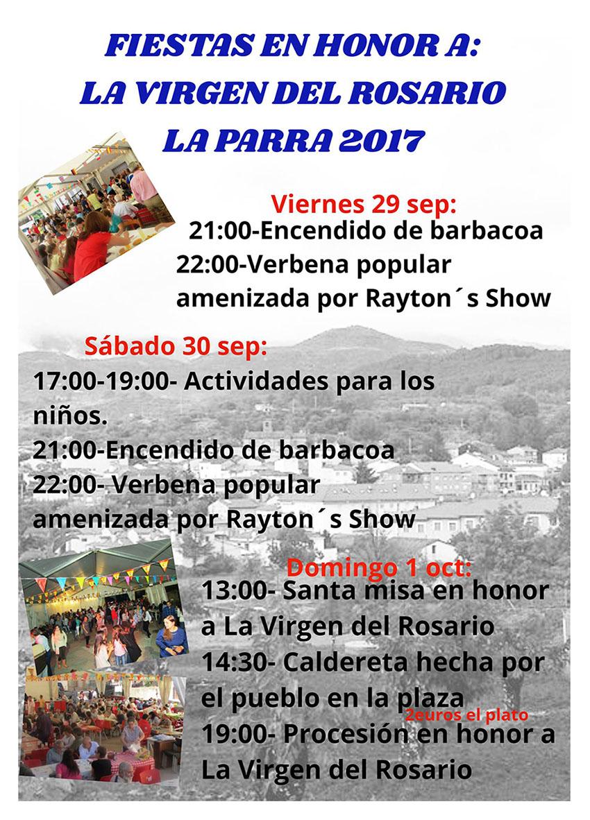 Fiestas en honor a la Virgen del Rosario - La Parra - Arenas de San Pedro - TiétarTeVe
