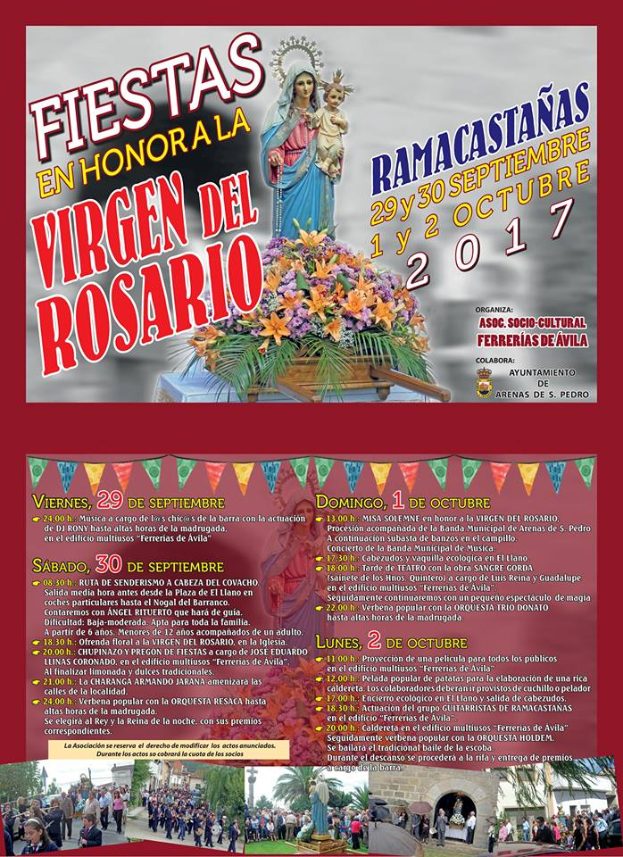 Fiestas en honor a la Virgen del Rosario en Ramacastañas (Arenas de San Pedro) 2017 - TiétarTeVe
