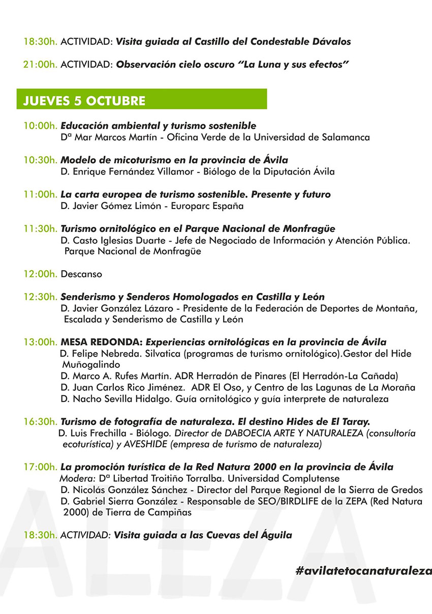 I Foro Turismo Naturaleza - Arenas de San Pedro - TiétarTeVe