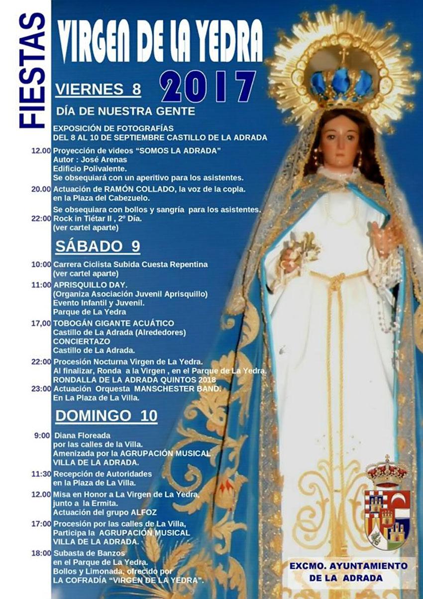 Fiestas de la Virgen de La Yedra en La Adrada 2017 - TiétarTeVe
