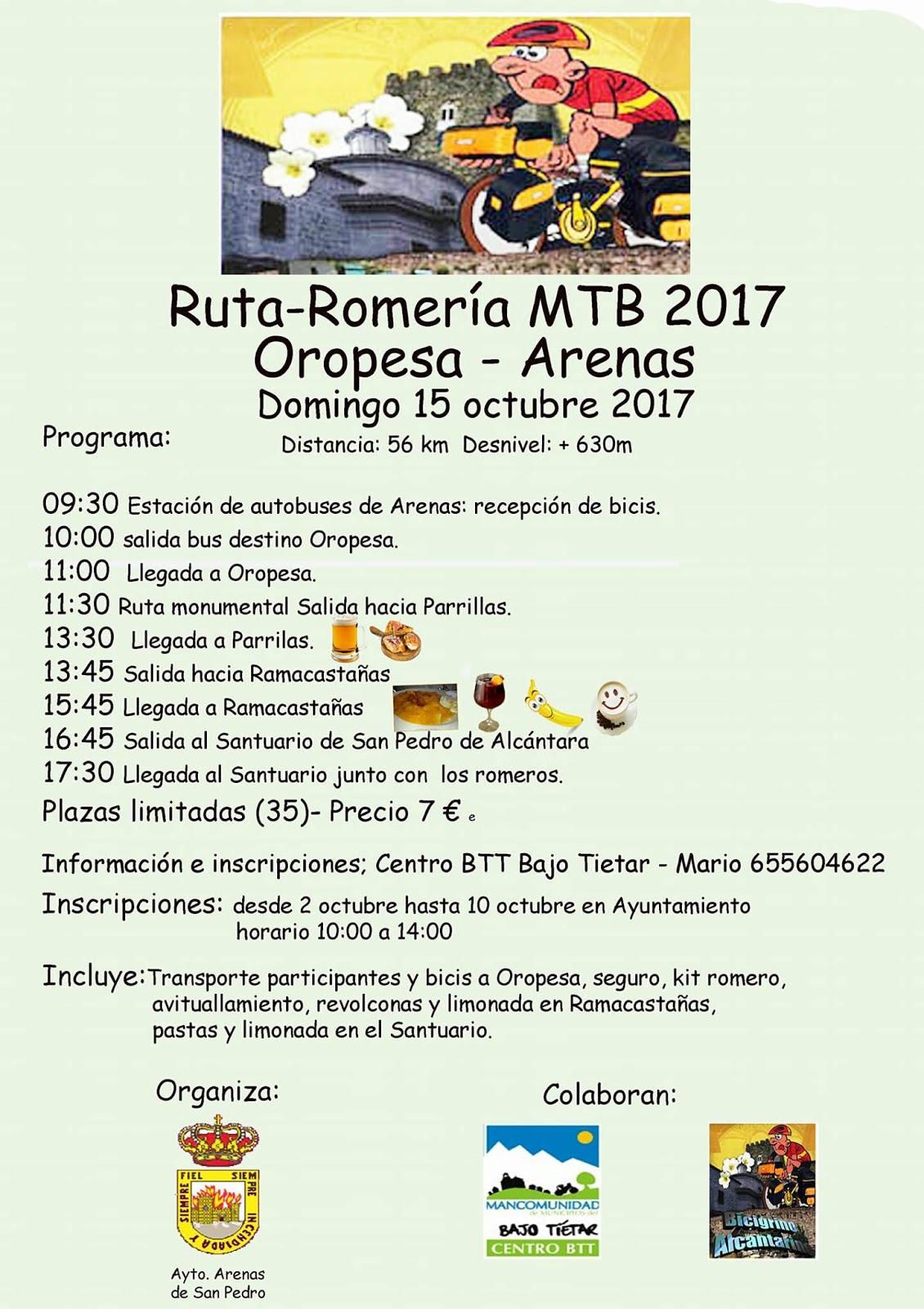 Romería MTB de San Pedro de Alcántara en Arenas de San Pedro - TiétarTeVe