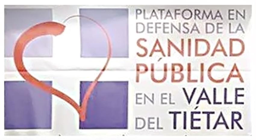 Logo de la Plataforma en Defensa de la Sanidad Pública en el Valle del Tiétar - TiétarTeVe