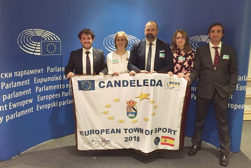 Candeleda Villa Europea del Deporte 2018 en Bruselas - TiétarTeVe