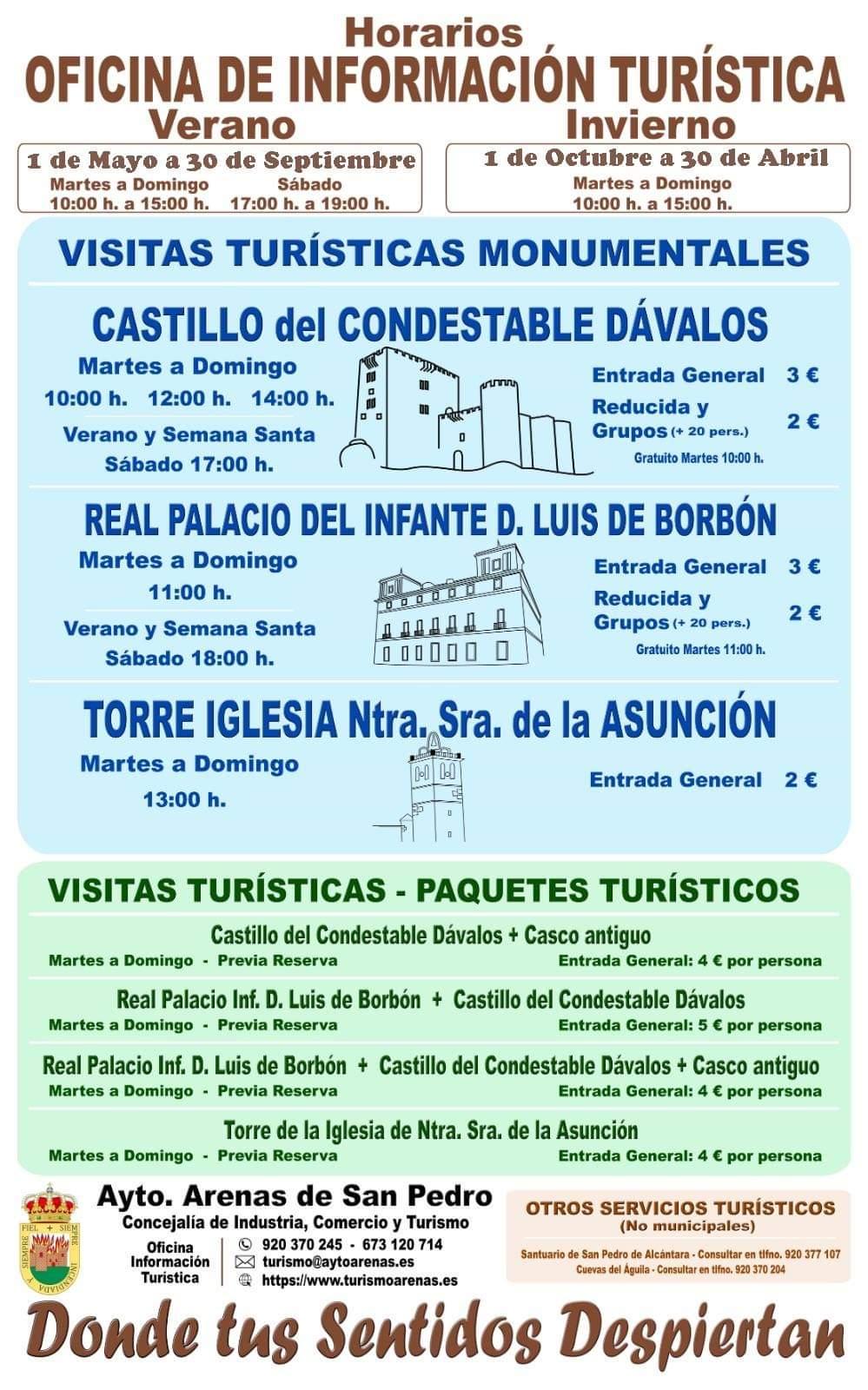 Horarios Turismo Arenas de San Pedro - TiétarTeVe
