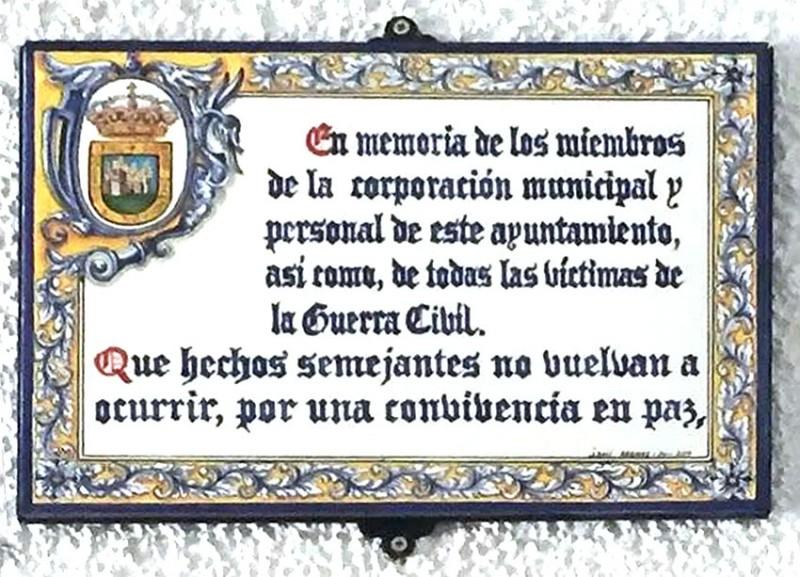 Homenaje a la Corporación Municipal asesinada en 1936 en Arenas de San Pedro - TiétarTeVe