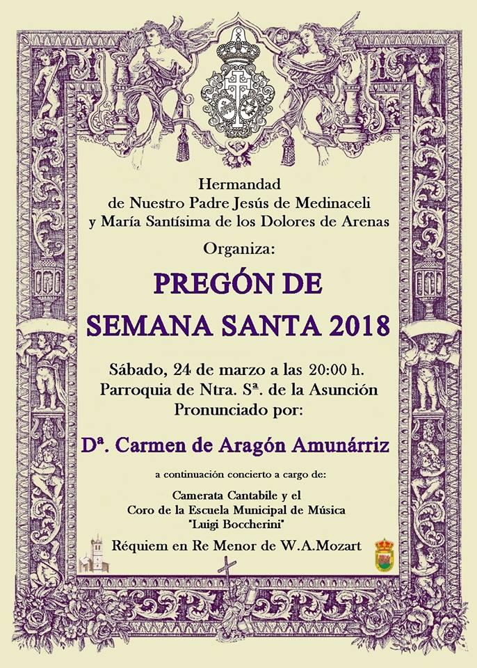 Pregón de la Semana Santa 2018 en Arenas de San Pedro - TiétarTeVe