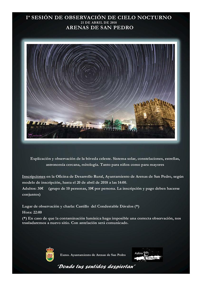 1ª Sesión observación Cielo Nocturno - Arenas de San Pedro - TiétarTeVe