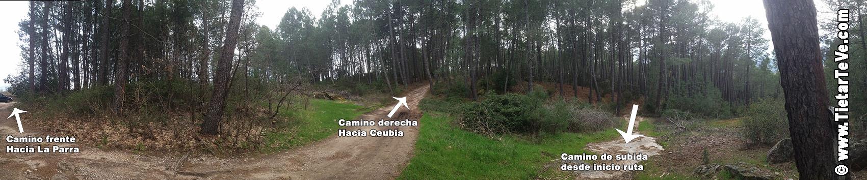 Cruce de Caminos en Ruta San Pedro - Ceubia - La Parra - Arenas de San Pedro - TiétarTeVe