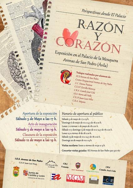 CARTEL Razón y Corazón - Perspectivas desde el Palacio - Arenas de San Pedro - TiétarTeVe