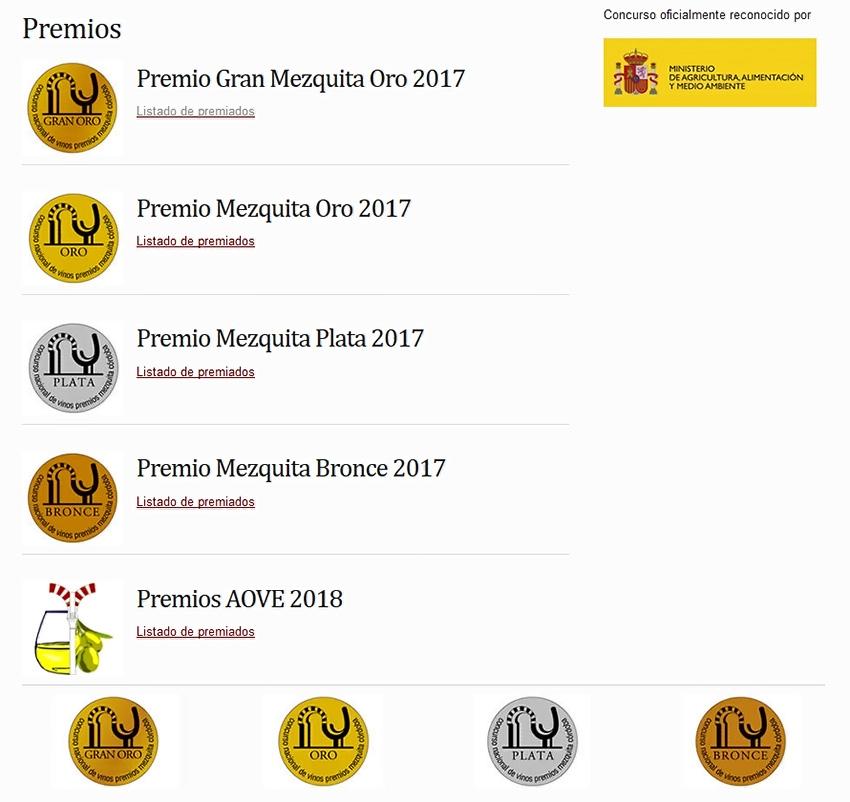 Categorias Premios Mezquita de Córdoba - TiétarTeVe