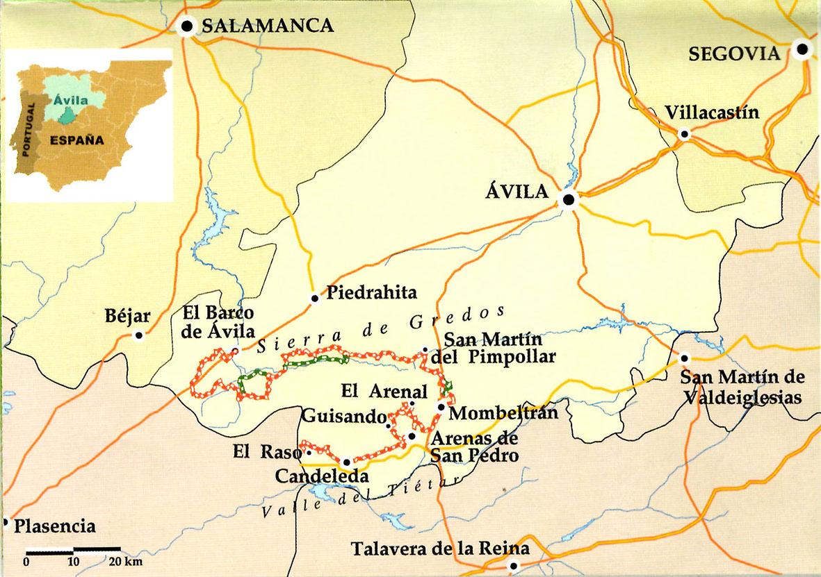 Sierra De Gredos Mapa.Sendero Gr 293 A Vueltas Con Gredos