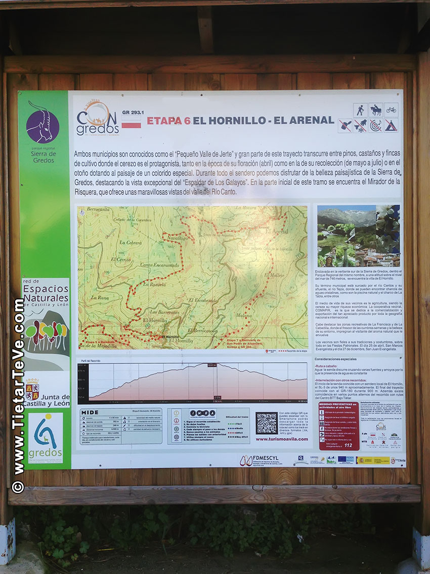 GR-293 - Tramo 6 - El Hornillo-El Arenal Cartel - TiétarTeVe