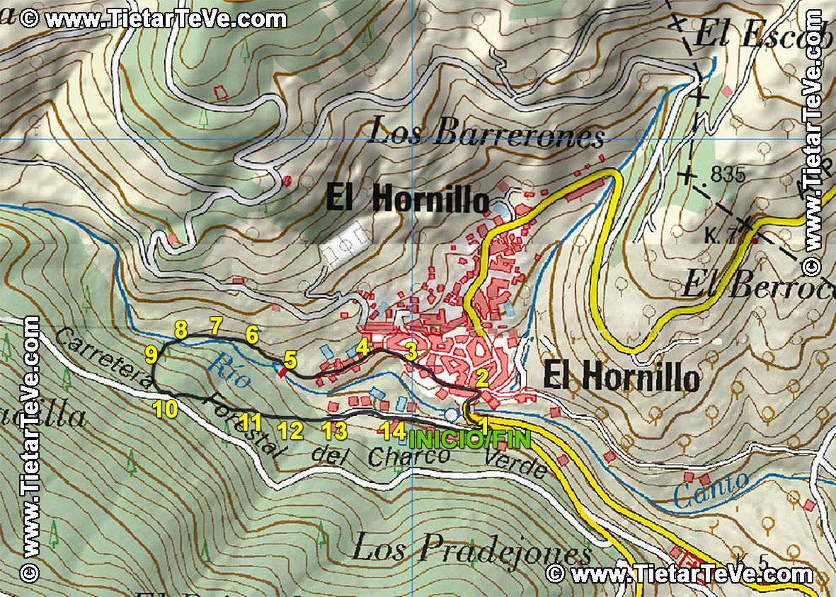 Mapa El Hornillo Escarilluelas - TiétarTeVe