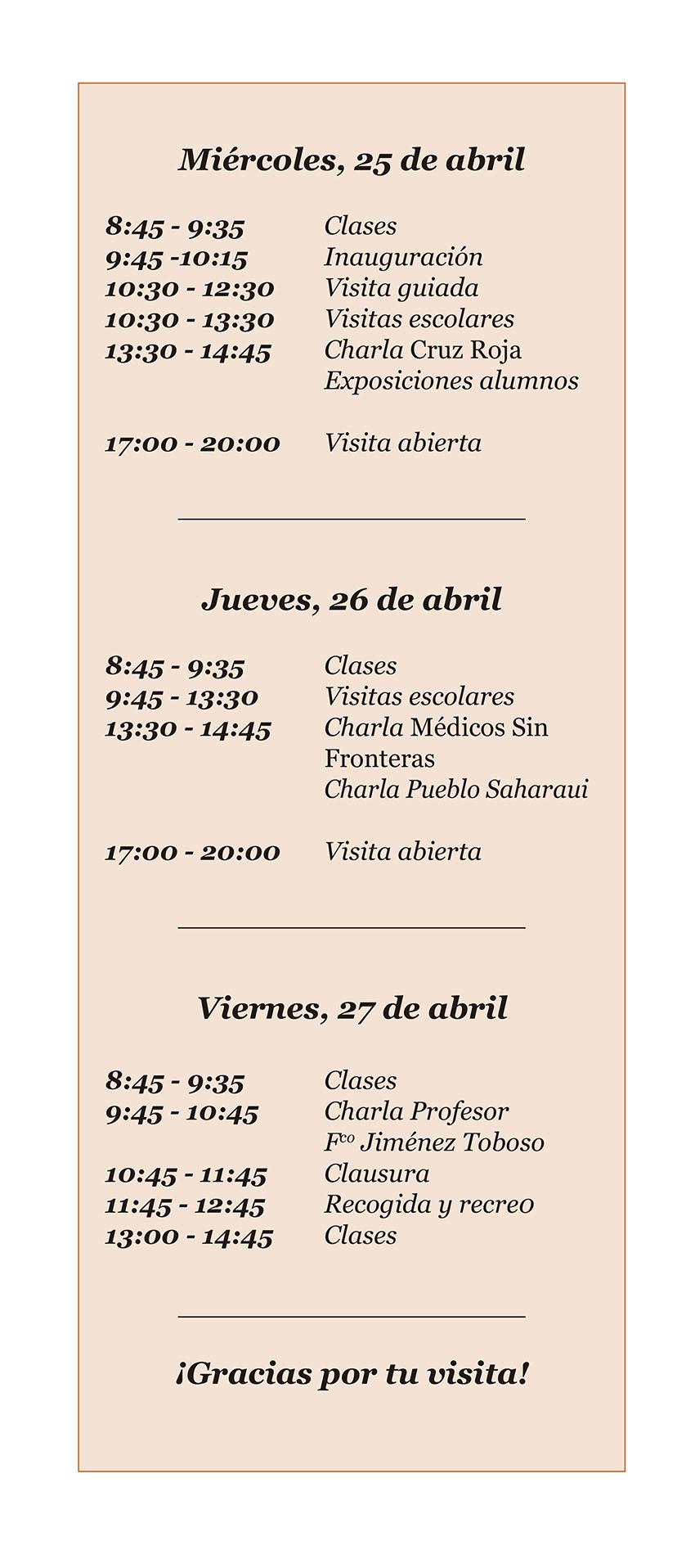 Programa XIV Feria Ciencia en la Calle - IES Arenas de San Pedro - Un Oasis de Ciencia - TiétarTeVe
