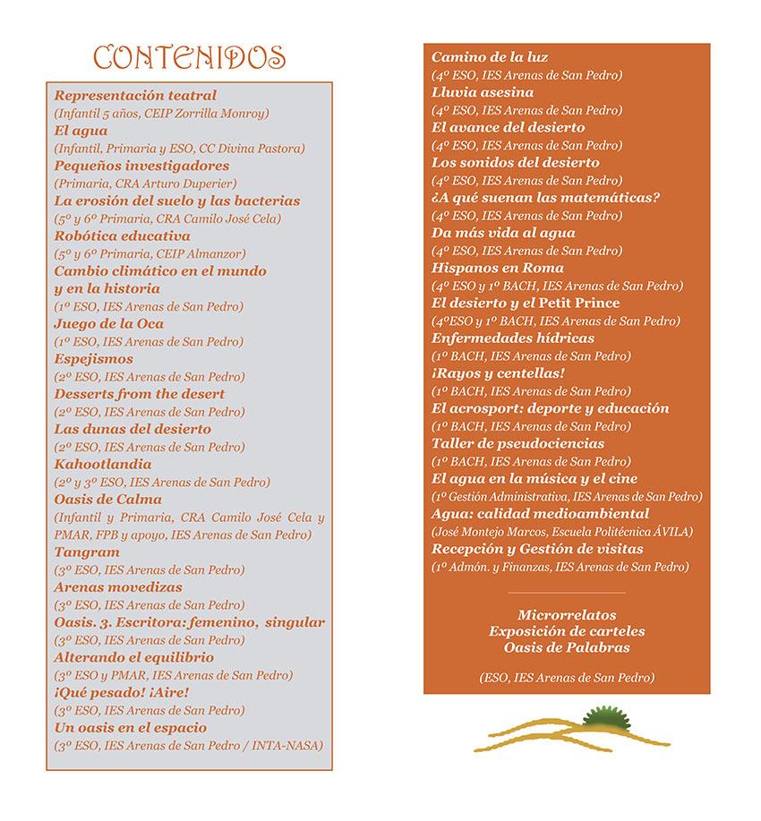 Contenido XIV Feria Ciencia en la Calle - IES Arenas de San Pedro - Un Oasis de Ciencia - TiétarTeVe