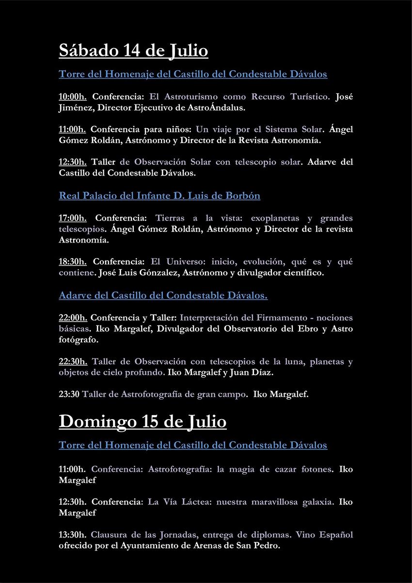 I Jornadas Astronomía y Astrofotografía - Arenas de San Pedro - TiétarTeVe