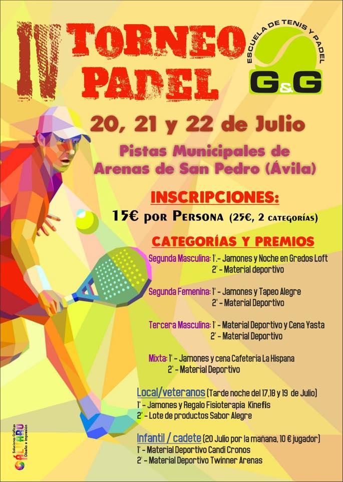 Torneo Pádel - Arenas de San Pedro - TiétarTeVe