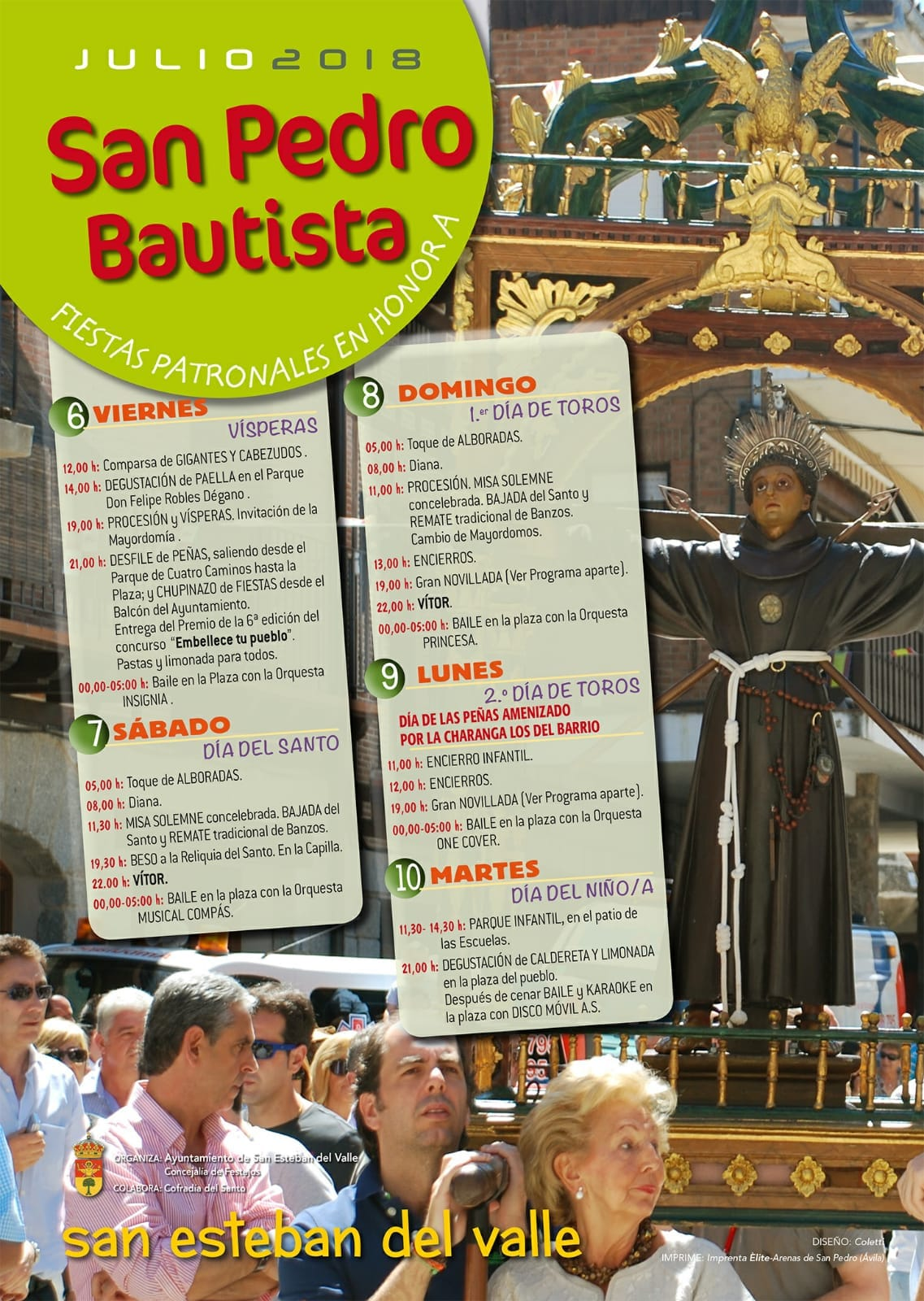 Fiestas de San Pedro Bautista en San Esteban del Valle 2018 - TiétarTeVe