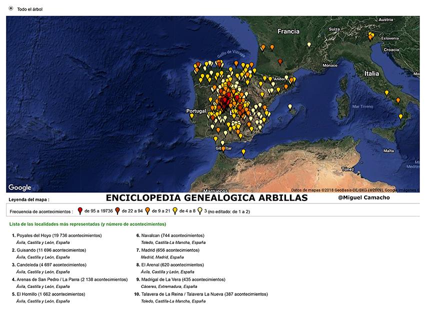 Cartografía - Árbol genealógico I Encuentro Garros de Gredos - TiétarTeVe