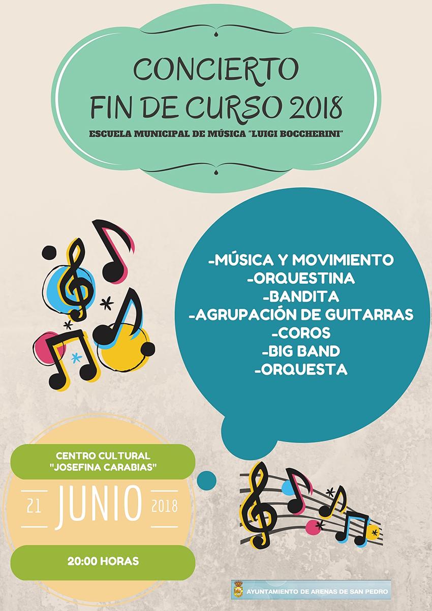 Concierto Fin Curso EMM Luigi Boccherini - Arenas de San Pedro - TiétarTeVe