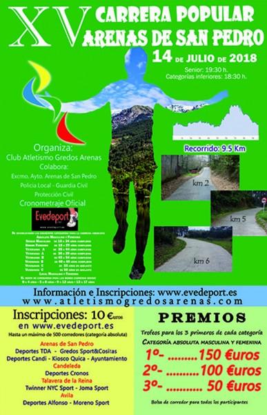 XV Carrera Popular de Arenas de San Pedro - TiétarTeVe