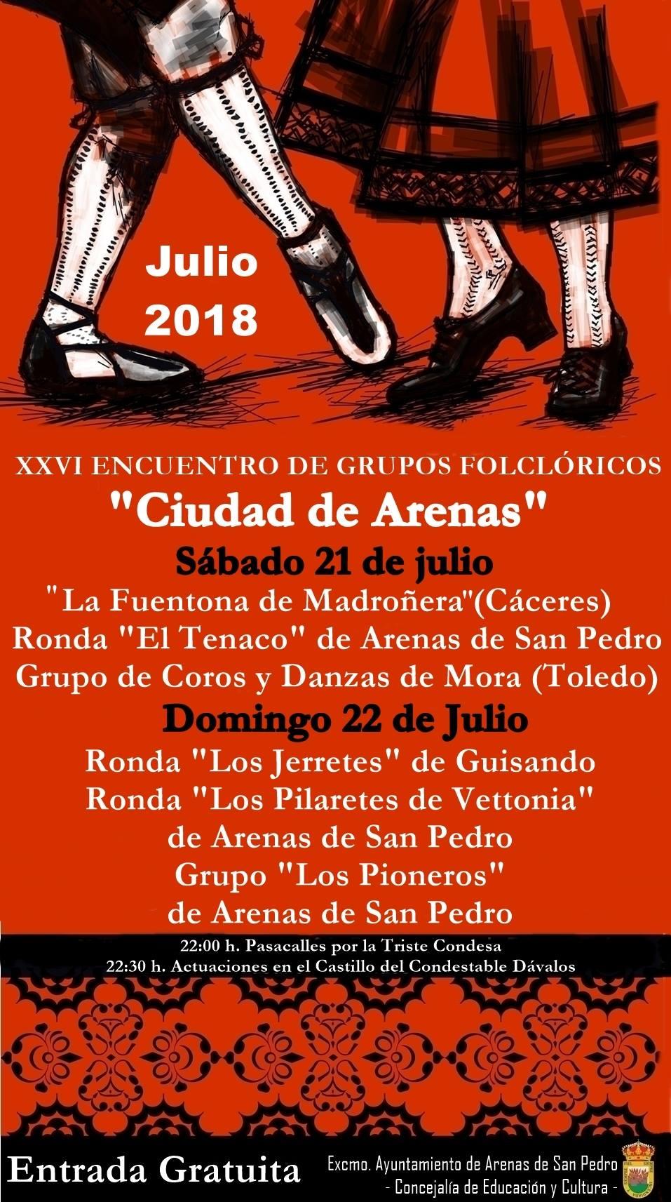XXVI Encuentro Folclorico Arenas de San Pedro