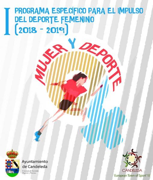 Cartel deporte femenino en Candeleda - TiétarTeVe