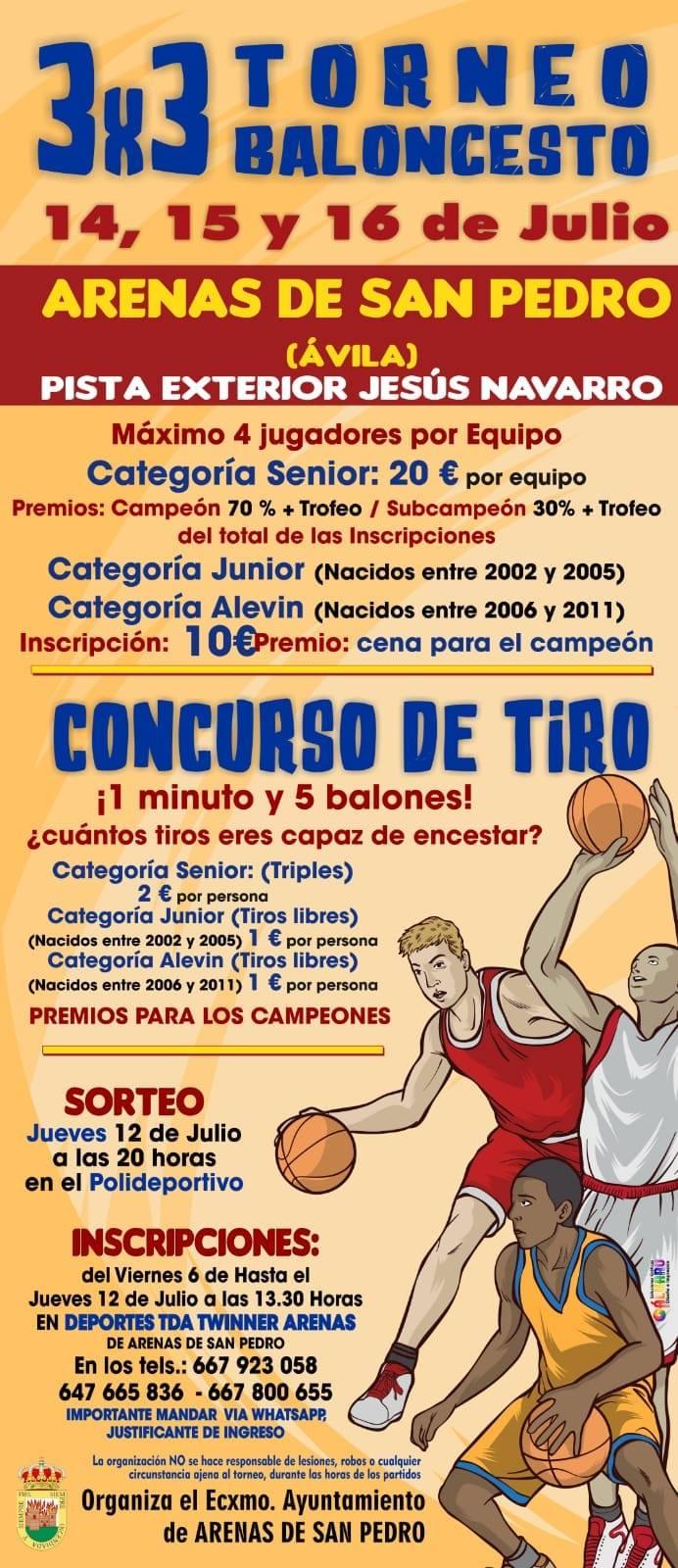 Trofeo 3x3 Baloncesto - Arenas de San Pedro - TiétarTeVe