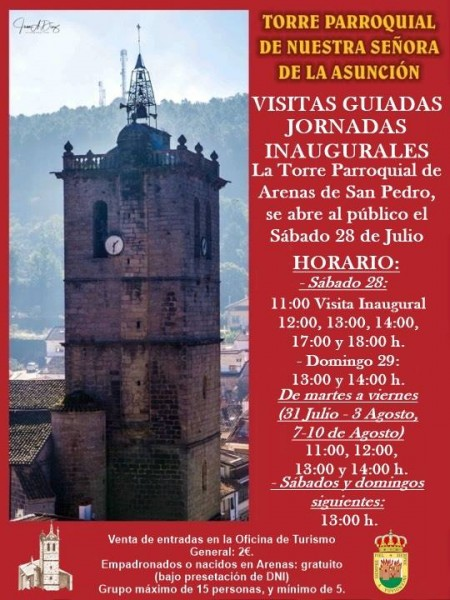 Inauguración visitas guiadas Torre Iglesia Arenas de San Pedro - TiétarTeVe