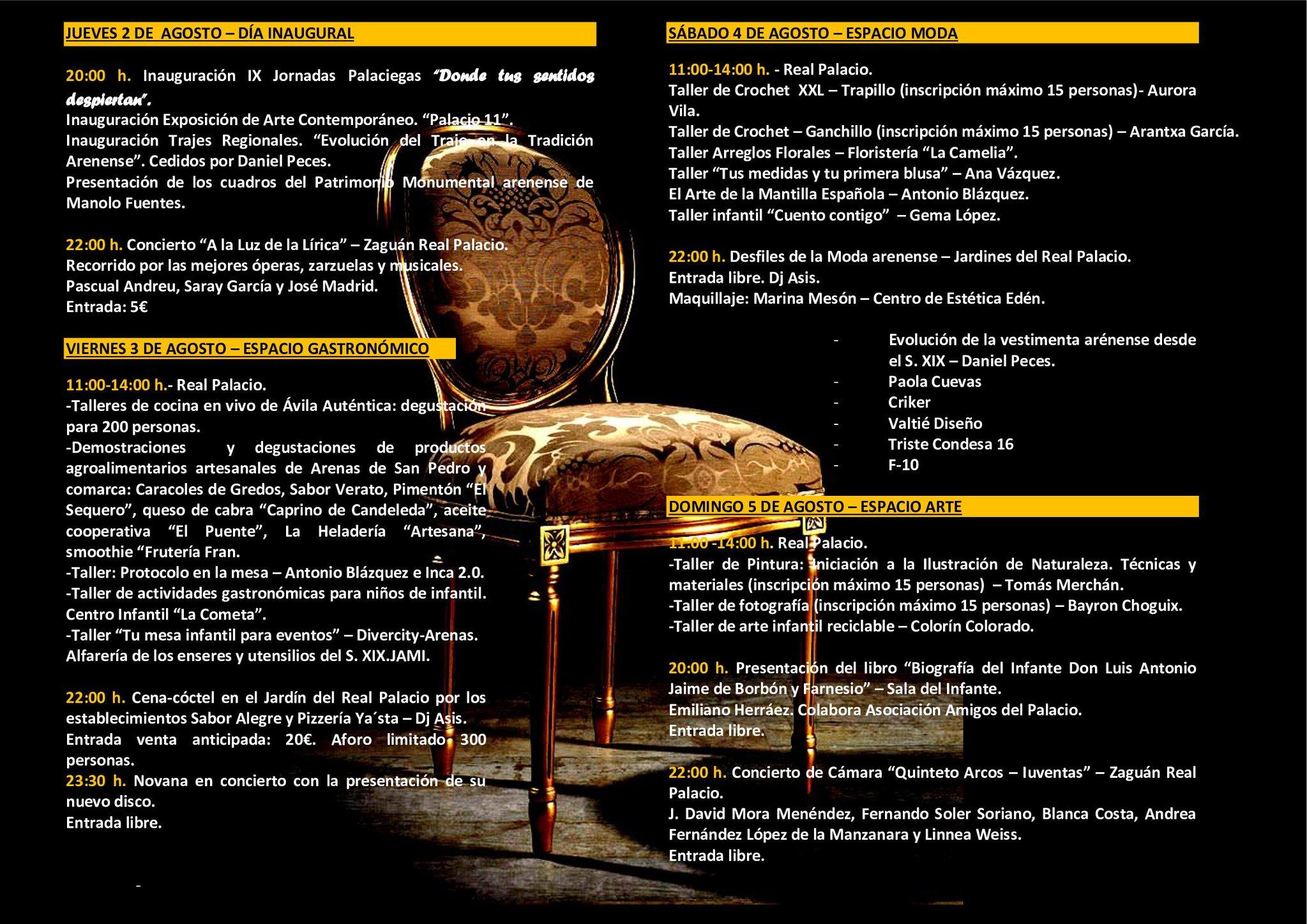 IX Jornadas Palaciegas en Arenas de San Pedro