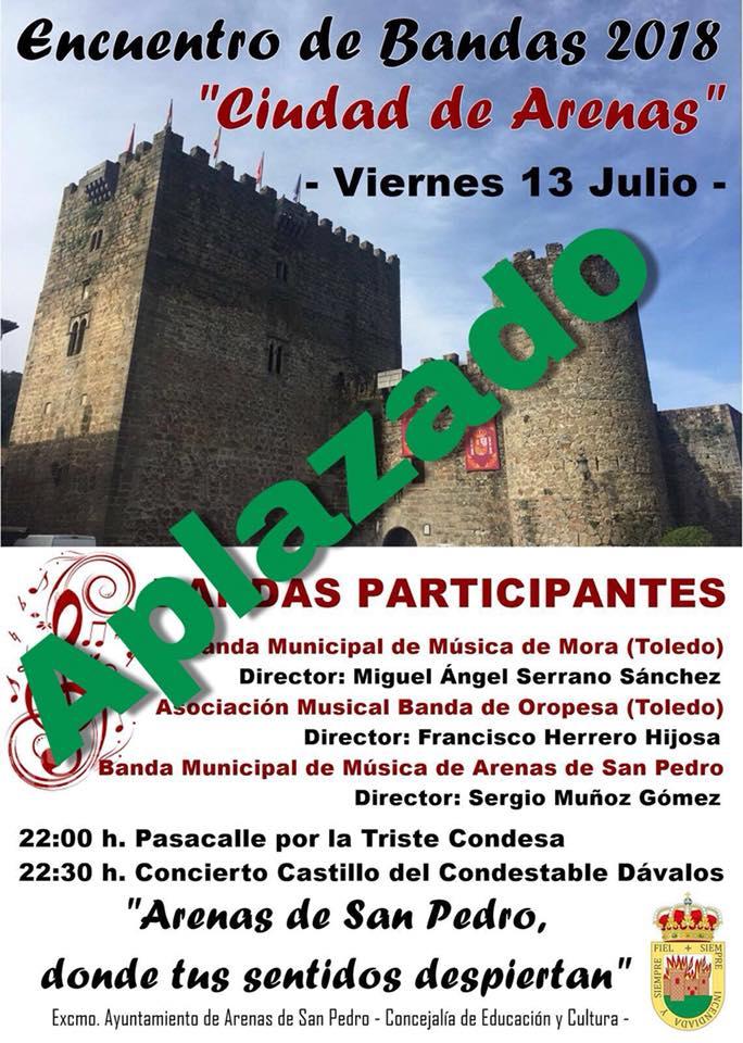 Aplazado Encuentro de Bandas Arenas de San Pedro - TiétarTeVe