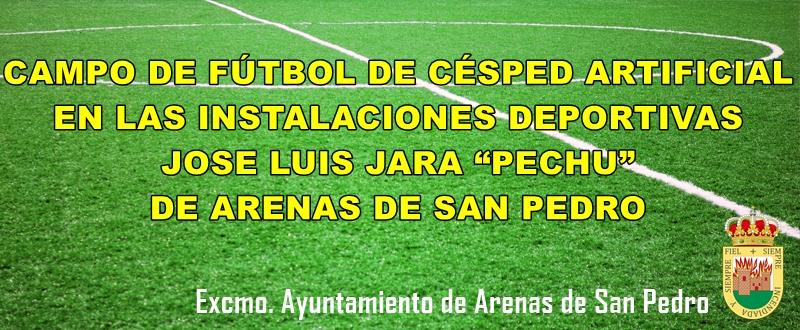 Campo de Fútbol de Césped Artificial - Arenas de San Pedro - TiétarTeVe