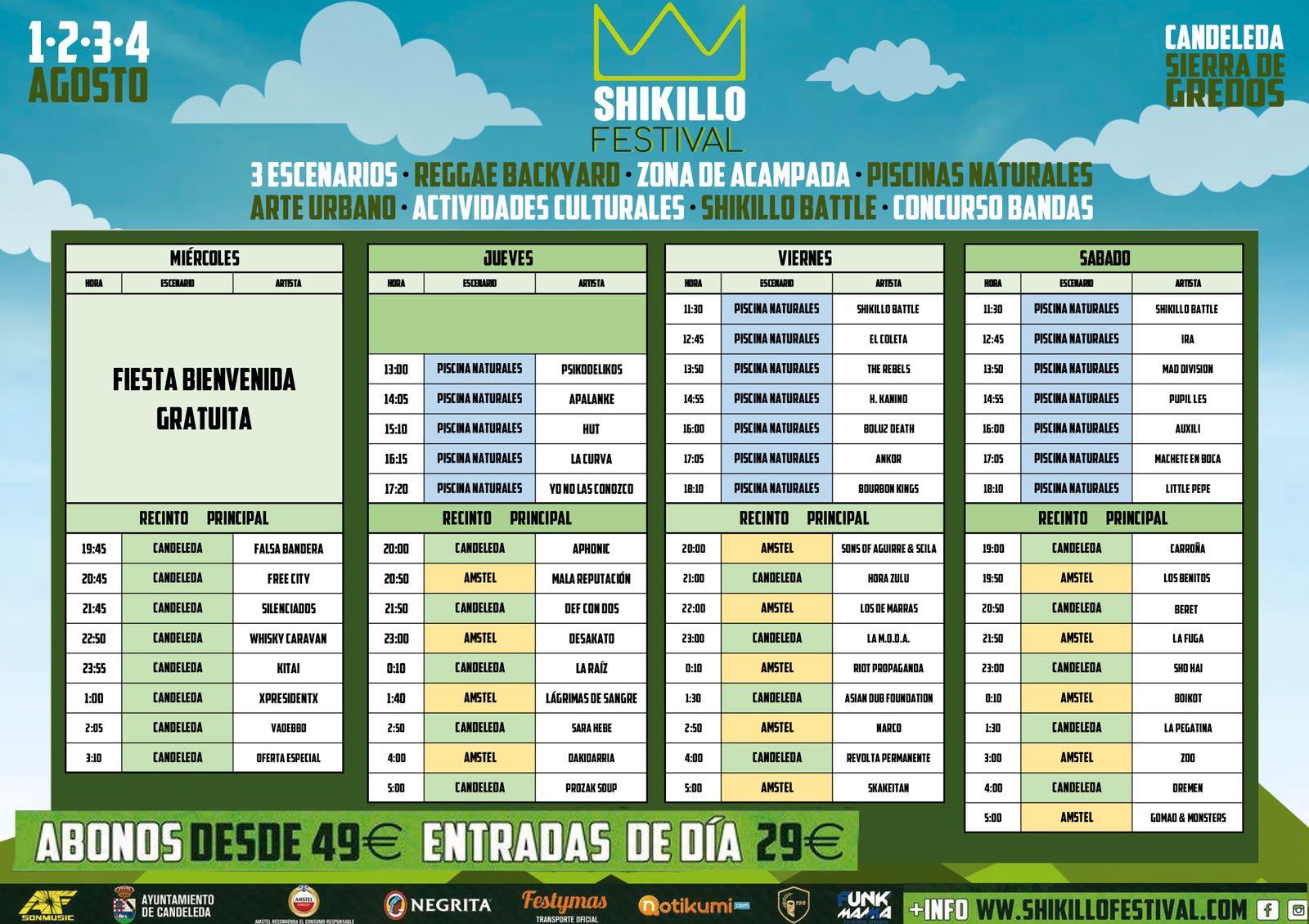 Nuevos Horarios Shikillo Festival - TiétarTeVe